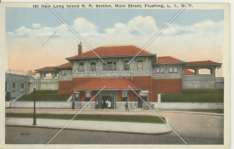 New Long Island R.R. Station, Main Street, Flushing L.I., N.Y.