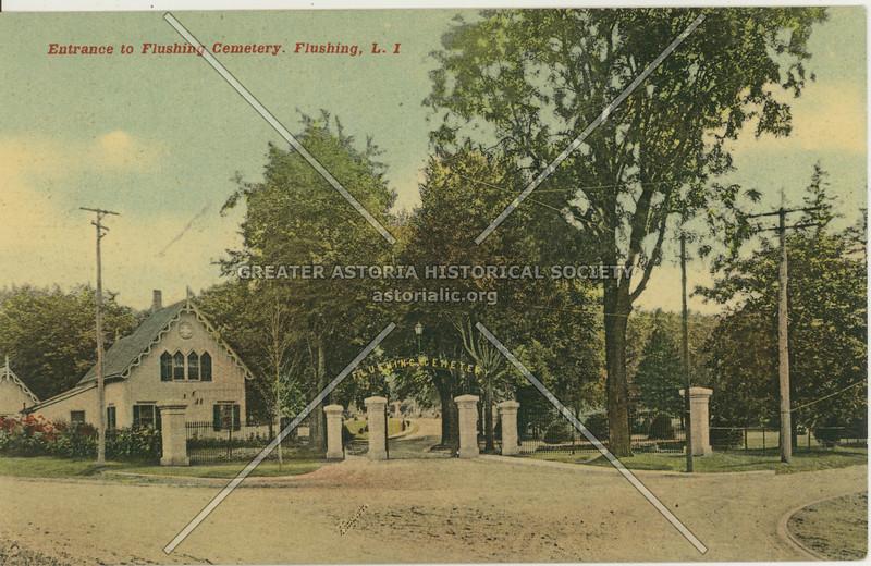 Entrance to Flushing Cemetery, Flushing, L.I.