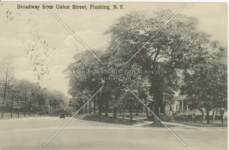 Broadway (Northern Blvd) from Union Street, Flushing, N.Y.