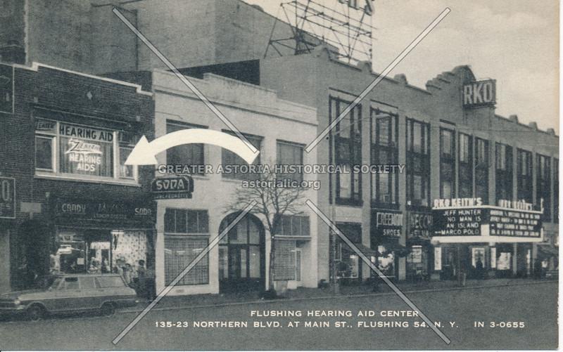 Flushing Hearing Aid Center Northern Blvd at Main St., Flushing N.Y.
