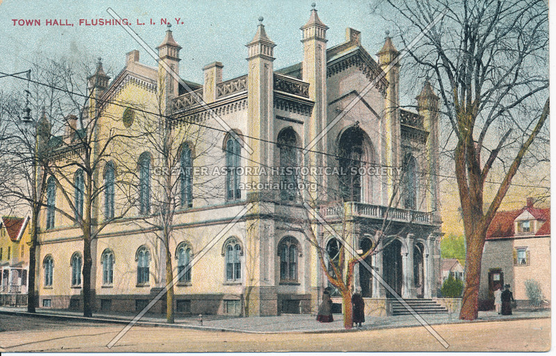 Town Hall, Northern Blvd and Linden Place, Flushing, L.I., N.Y.