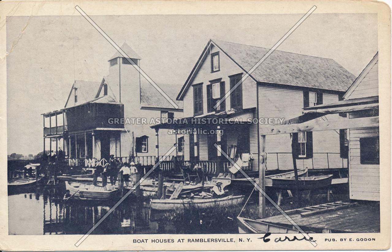Boat Houses at Ramblersville, N.Y.