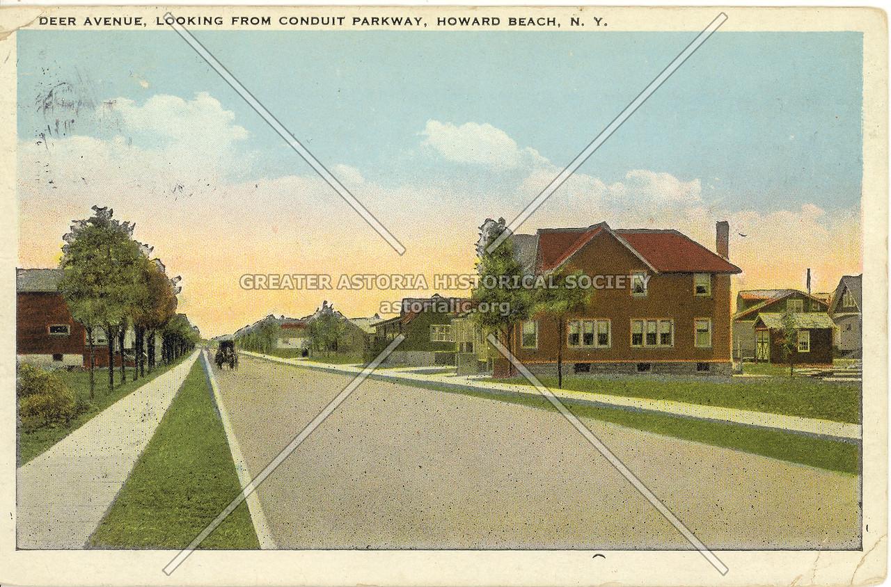 Deer Avenue (101 St), Looking from Conduit Parkway, Howard Beach, N.Y.