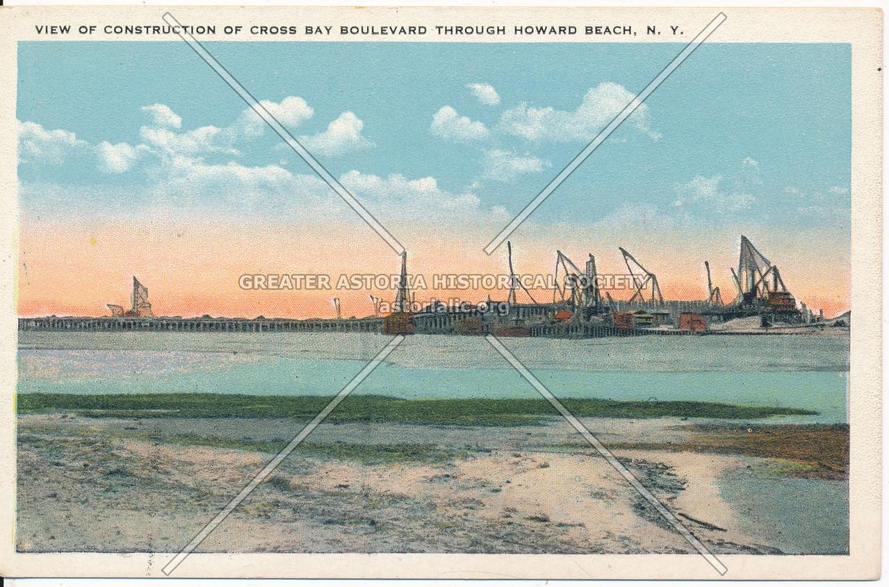 View of Construction of Cross Bay Boulevard Through Howard Beach, N.Y.