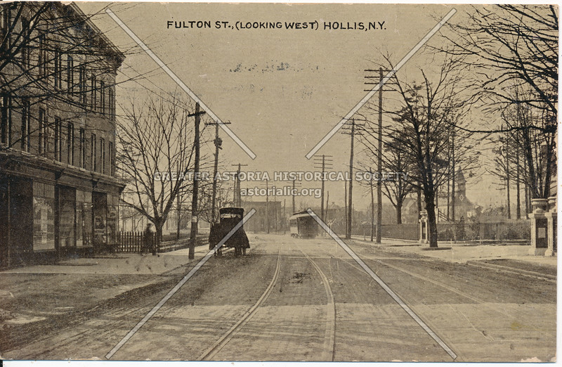 Fulton St (Jamaica Ave)., (Looking West) Hollis, N.Y.