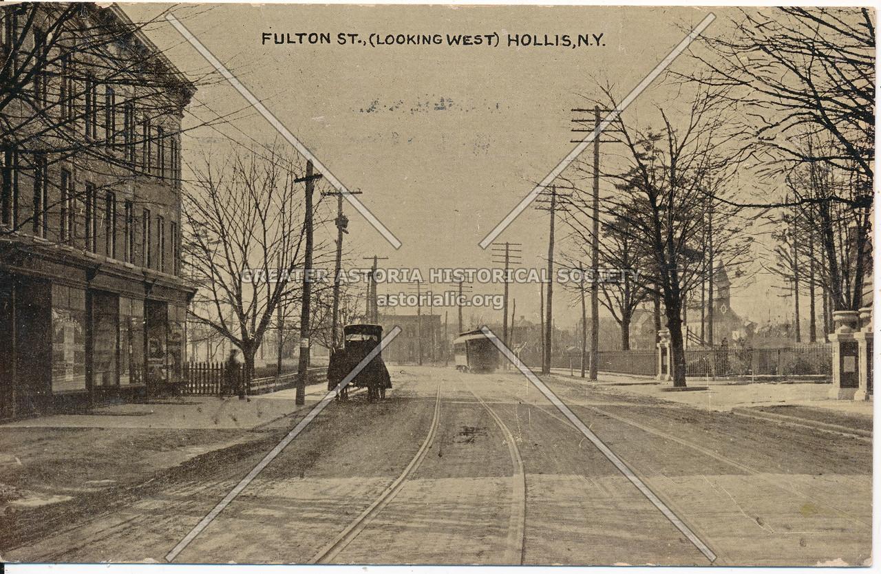 Fulton St (Jamaica Ave)., (Looking West) Hollis, N.Y.