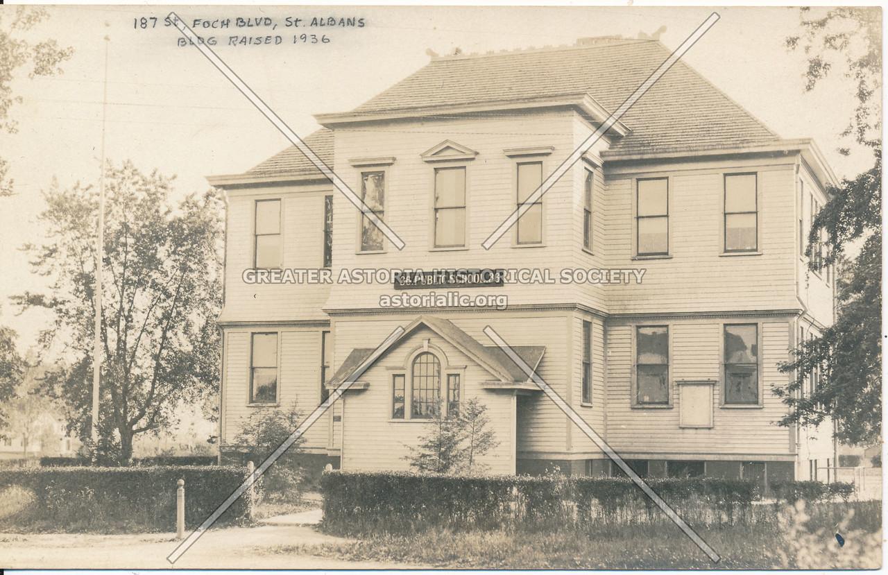 187th St, Foch Blvd, St. Albans Bldg Raised 1936