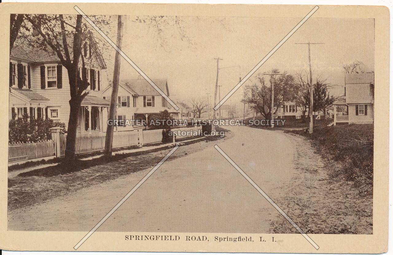 Springfield Road (Springfield Blvd), Springfield, L.I.