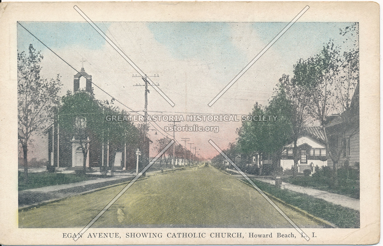 Egan Avenue (159 Ave), Showing Catholic Church, Howard Beach, L.I.