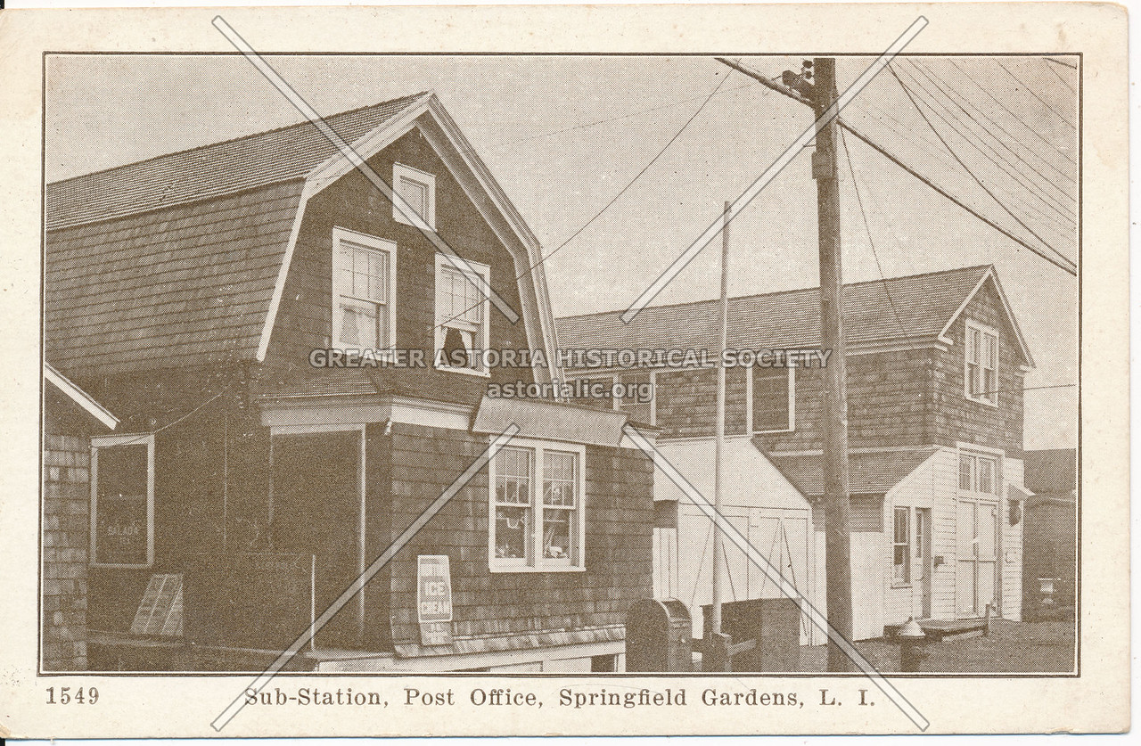 Sub-Station, Post Office, Springfield Gardens, L.I.
