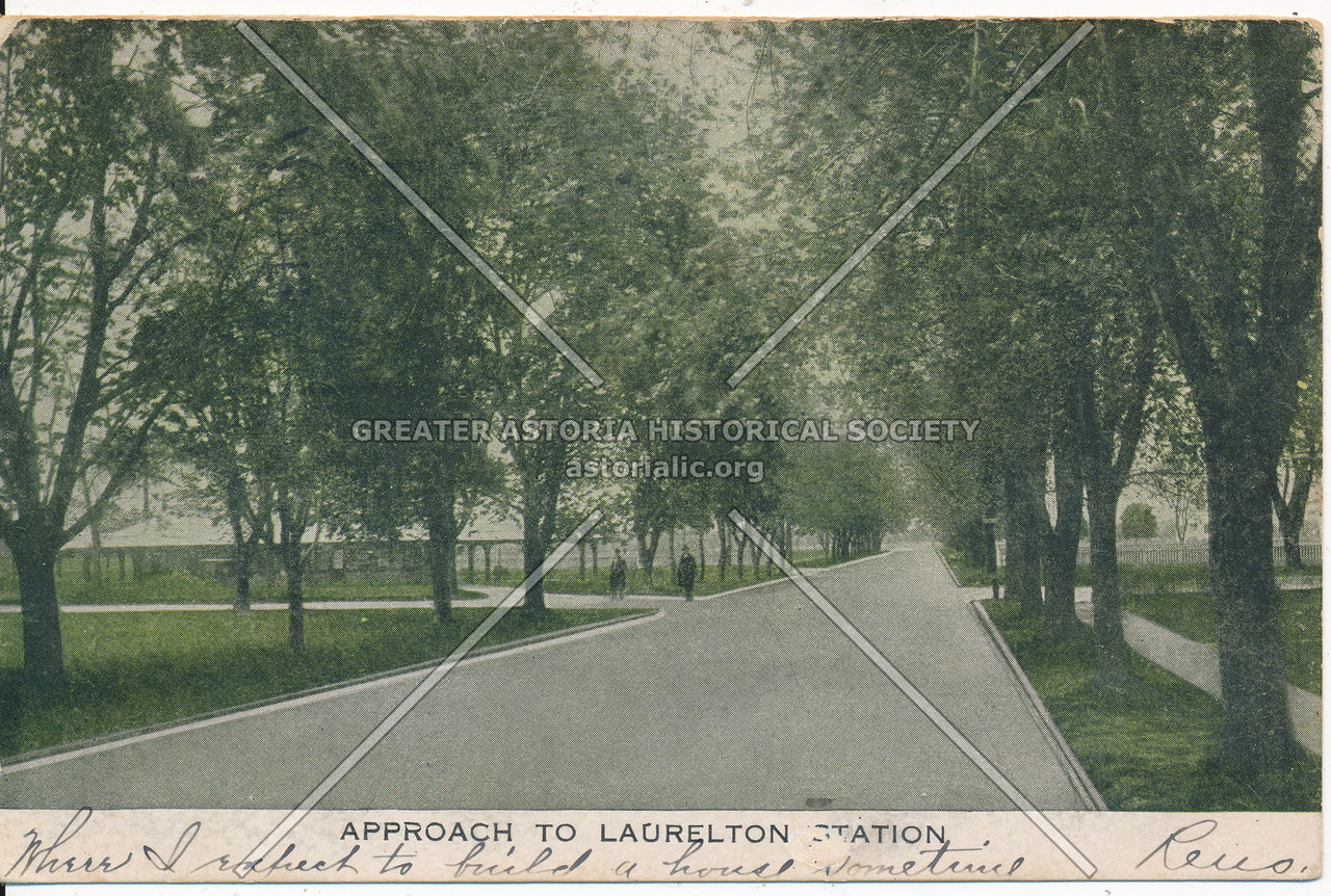 Approach to Laurelton Station