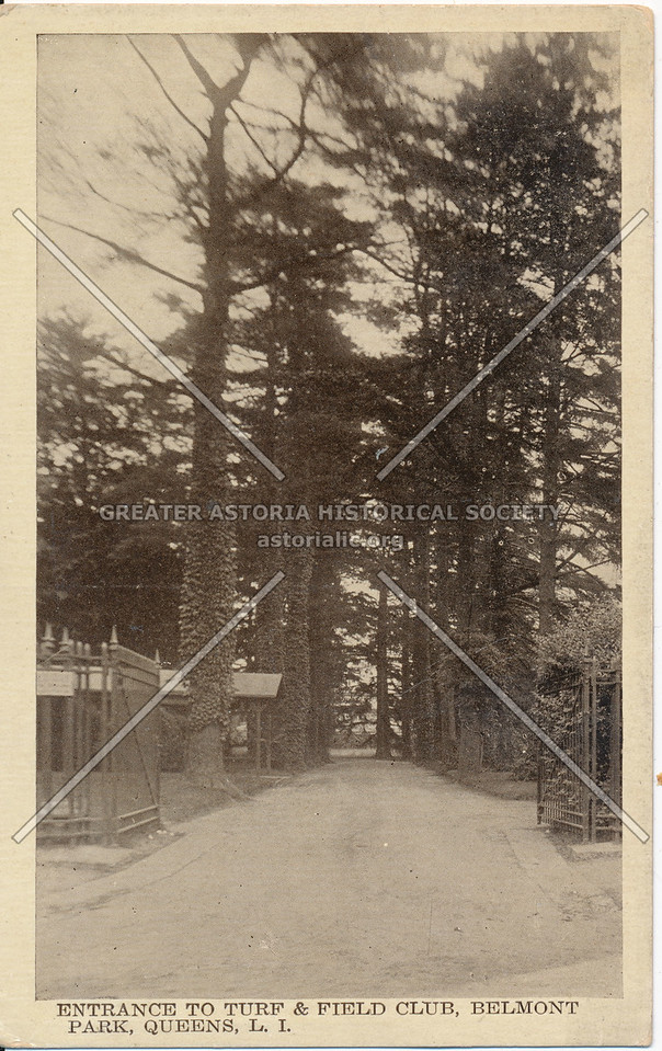 Entrance to Turf & Field Club, Belmont Park, Queens, L.I.