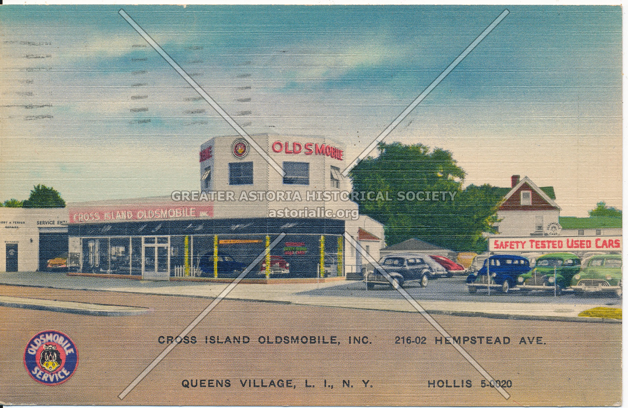 Cross Island Oldsmobile, Inc.  216-02 Hempstead Ave. Queens Villege, L.I., N.Y.