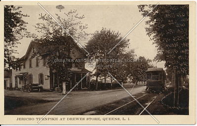 Jericho Turnpike (Jamaica Ave) at Drewes Store, Queens Village, L.I.