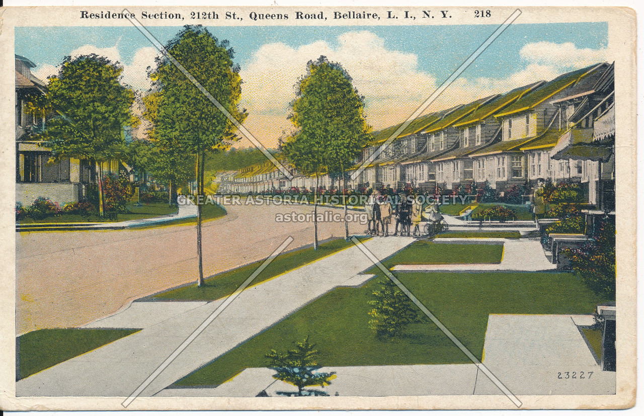 Residence Section, 212th St., (Queens Road), Bellaire, L.I., N.Y.