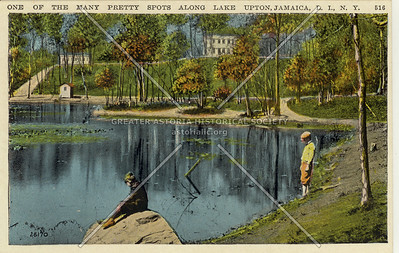 One of the Many Pretty Spots Along Lake Upton, Jamaica, L.I., N.Y.