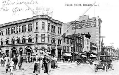 Bank of Long Island, Fulton Street (Jamaica Ave), Jamaica, L.I., N.Y.