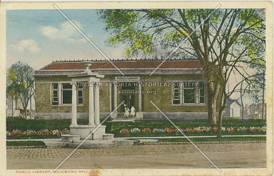 Public Library, Hillside Ave., Richmond Hill, LI, NY