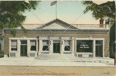 Republican Club Building and Post Office, Lefferts Blvd., Richmond Hill, LI, NY