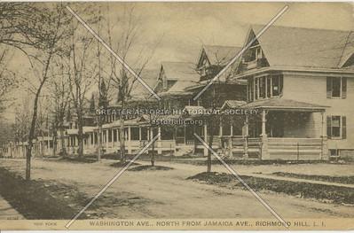 Washington Ave (106 St)., North from Jamaica Ave., Richmond Hill, LI, NY