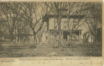 Residence of Mrs. Hamblen, Beech Street (120 St), Richmond Hill, NY