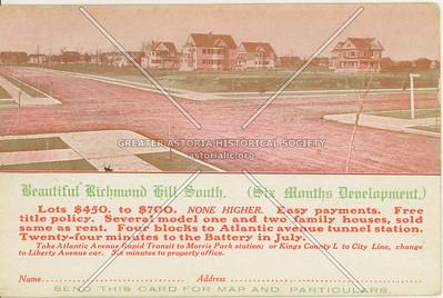 Richmond Hill South, B.N. Dawley Real Estate Co., 16 Court Street, Brooklyn, NY