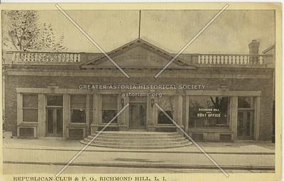 Republican Club & Post Office, Lefferts Blvd., Richmond Hill, LI, NY