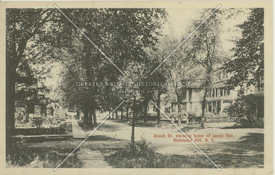 Beech St (120 St)., showing home of Jacob Riis, Richmond Hill, NY