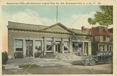Republican Club and American Legion Post No. 212, Lefferts Blvd. Richmond Hill, LI, NY