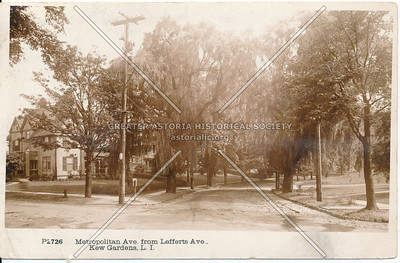 Metropolitan Ave from Lefferts Ave, Kew Gardens, L.I.