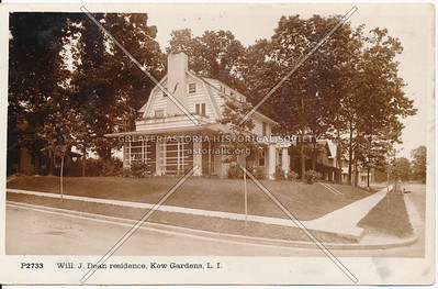 Will. J. Dean residence, 82nd Road at Austin St., Kew Gardens, L.I.