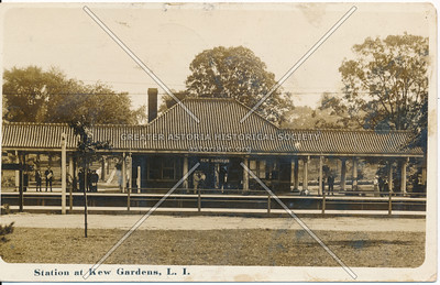 Station at Kew Gardens, L I