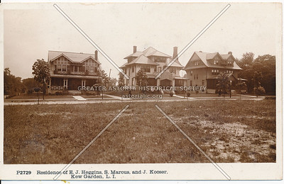 Residence of E.J. Heggins, S. Marous, and J. Kooser, Abingdon Road at Brevoort Street, Kew Garden, L.I.