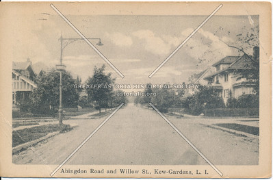 Abingdon Road and Willow St (Brevoort St)., Kew Gardens, L.I.