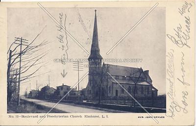 Queens Boulevard and Presbyterian Church, Elmhurst L.I.