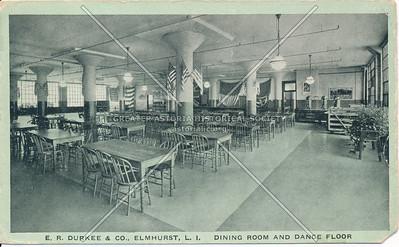 E. R. Durkees & Co., Elmhurst L.I. Dining Room and Dance Floor