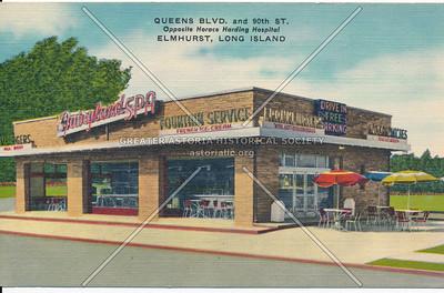 Queens Blvd, and 90th St. Opposite Horace Harding Hospital, Elmhurst, Long Island