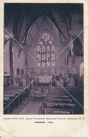 Interior View of St. James' Protestant Episcopal Church, Elmhurst N.Y.