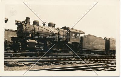 Steam locomotive at Long Island City station