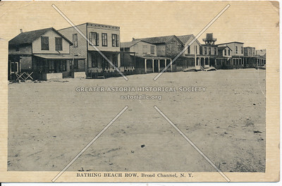 Bathing Beach Row, Broad Channel, N.Y.