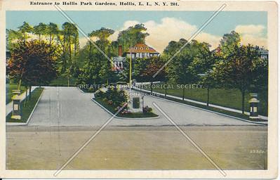 Entrance to Hollis Park Gardens, Hollis, L.I., N.Y.