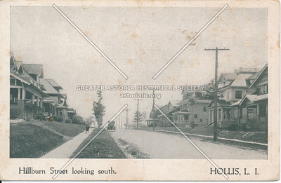 Hillburn Street looing southm Hollis, L.I.