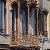 Balcony of the bel-etage of the private house of Victor Horta