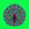 689. Glass Scallop Shell