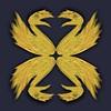 197. Heraldic Dinosaur Swans