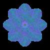 343. Blue Atom Septuple Transparency