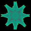 355. Green Rose Star Transparency