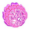 753. Pink Clamshell Cage