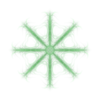 380. Dandelion Puff Green Transparency