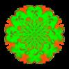 Shredded Green Blossom Transparency